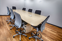 Open and modern conference rooms located throughout the Headquarters