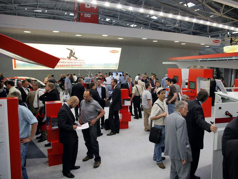Crowd puller: the Fronius exhibition stand