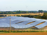 Solar Power Plant near Rostock, Germany