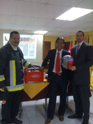 "On May 13th, the Santiago-based Fronius representative Sande donated a Fronius power source and plasma cutting device to the ""Bomba Republica de Austria"", a voluntary fire service under Austrian patronage."