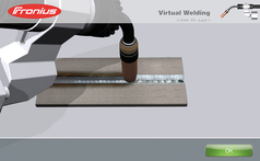 virtual representation of Virtual Welding Robotics