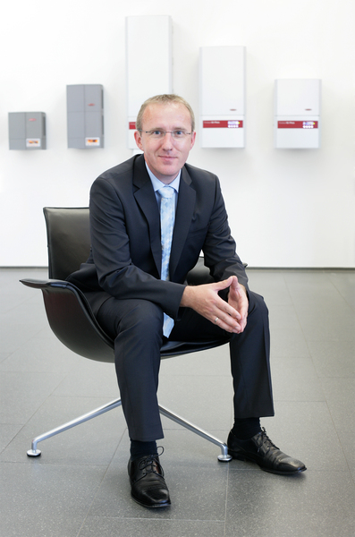 Martin Hackl: head of the Fronius International GmbH Solar Electronics division.